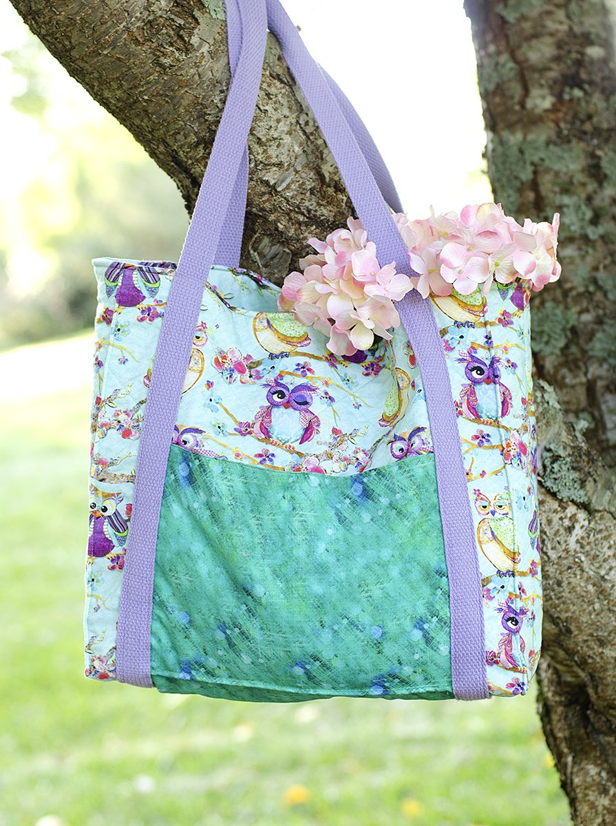 3 Wishes Fabric<br>Boho Owls Tote