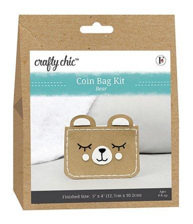 Crafty Chic <br>Coin Bag Kit Bear <br>CC-COIN-BEAR