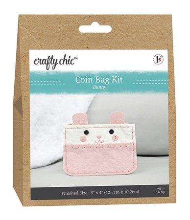 Crafty Chic <br>Coin Bag Kit Bunny <br>CC-COIN-BUNNY