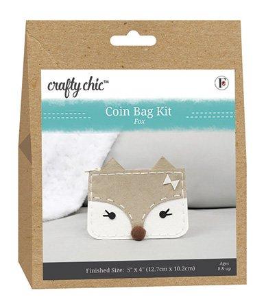 Crafty Chic <br>Coin Bag Kit Fox <br>CC-COIN-FOX