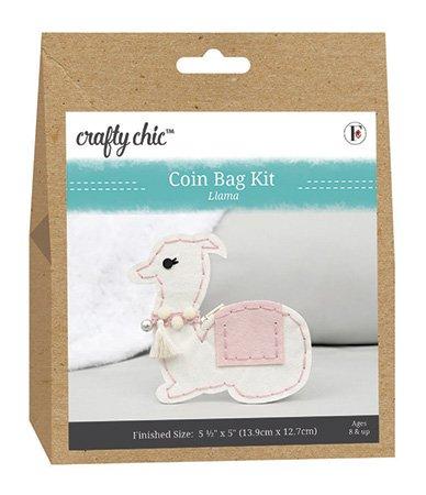 Crafty Chic <br>Coin Bag Kit Llama <br>CC-COIN-LLAMA