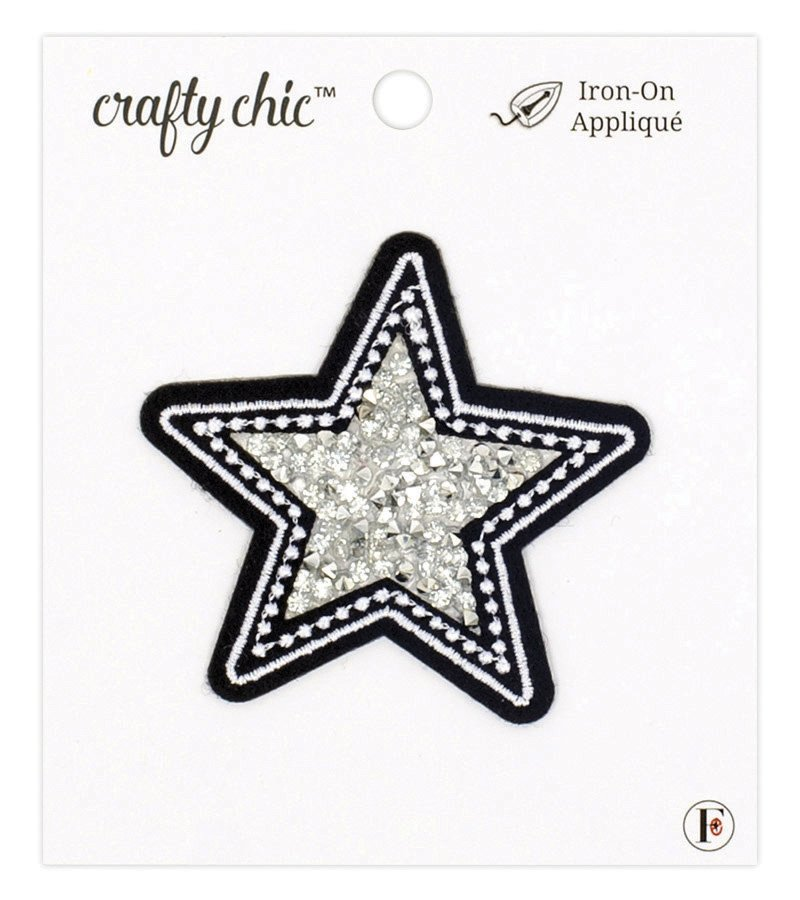 Crafty Chic <br>Iron-On Patch Beaded Star <br>CC-PAT-BDSTAR