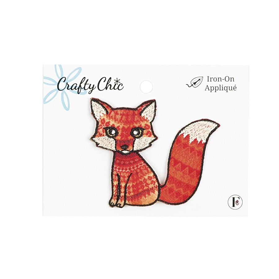 Crafty Chic <br>Iron-On Patch Fox<br>CC-PAT-FOX-ORNG