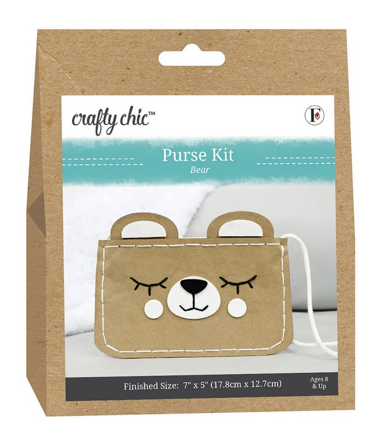 Crafty Chic <br>Purse Kit Bear <br>CC-PURSE-BEAR