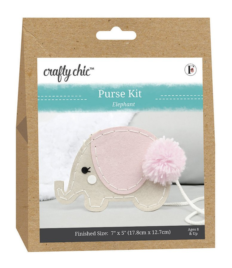 Crafty Chic <br>Purse Kit Elephant <br>CC-PURSE-ELEPHANT