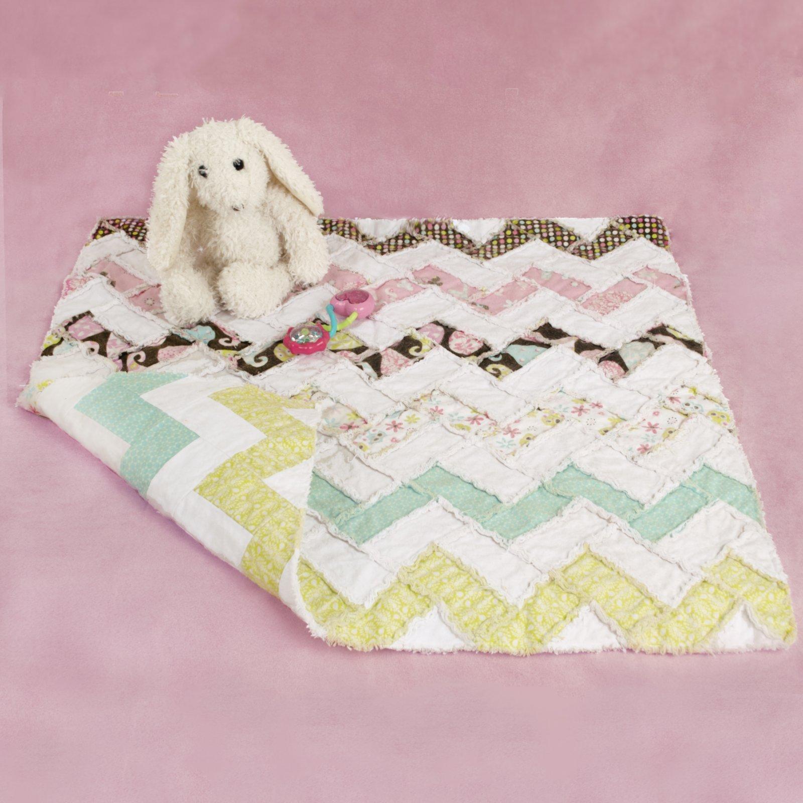Fuzzy Chevron Blanket