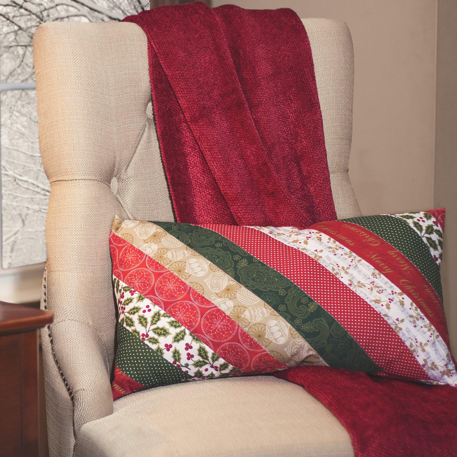 Christmas Strips Pillow