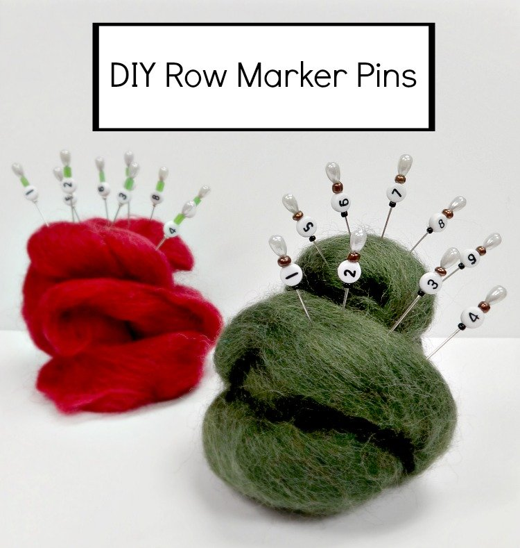 DIY Row Marker Pins