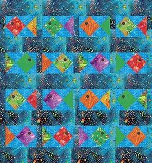 Fish Exotic Batik Quilt