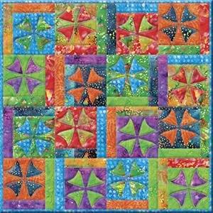 Winding Ways Exotic Batik Quilt