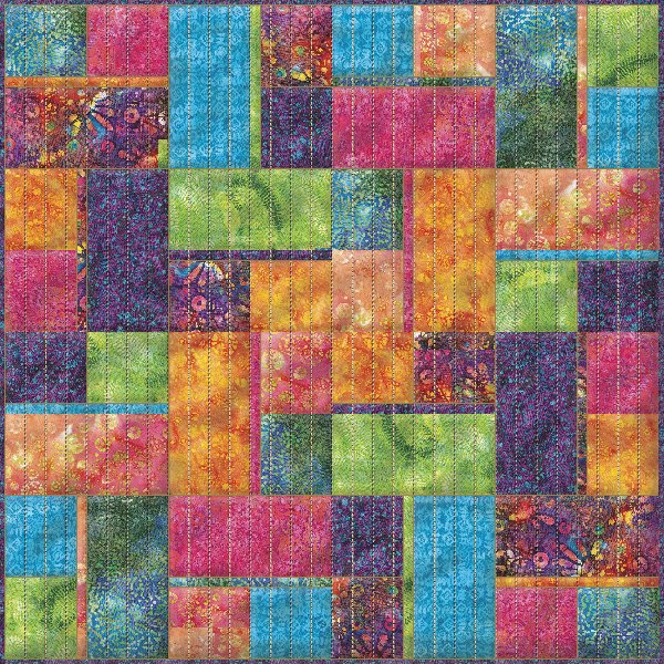 Sunset Exotic Batik Quilt