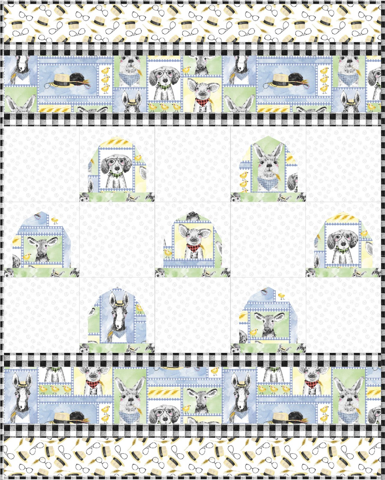 3 Wishes Fabric<br>Fancy Farm Quilt