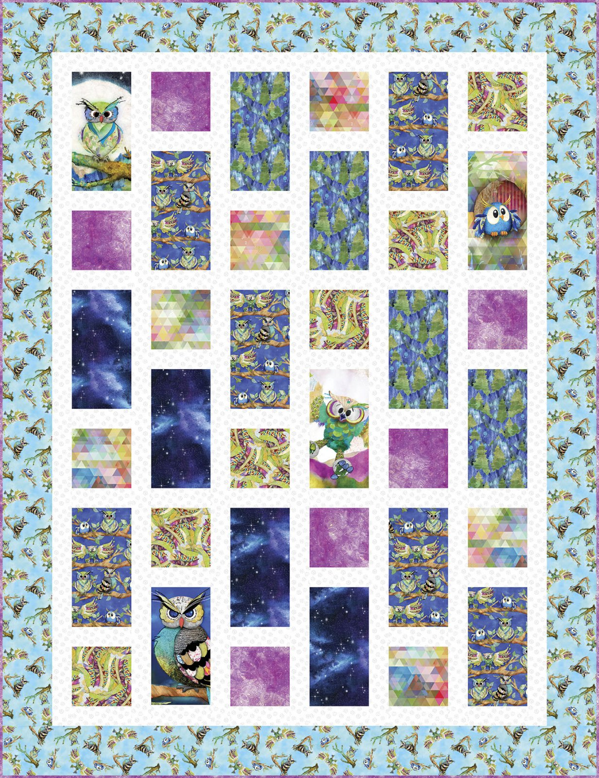 3 Wishes Fabric<br>Go Owl Out Quilt