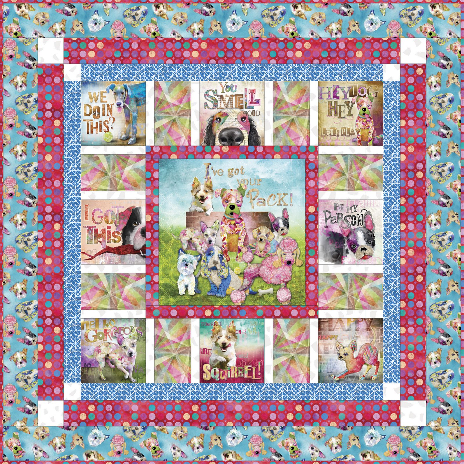 3 Wishes Fabric<br>Good Dogs Too Quilt