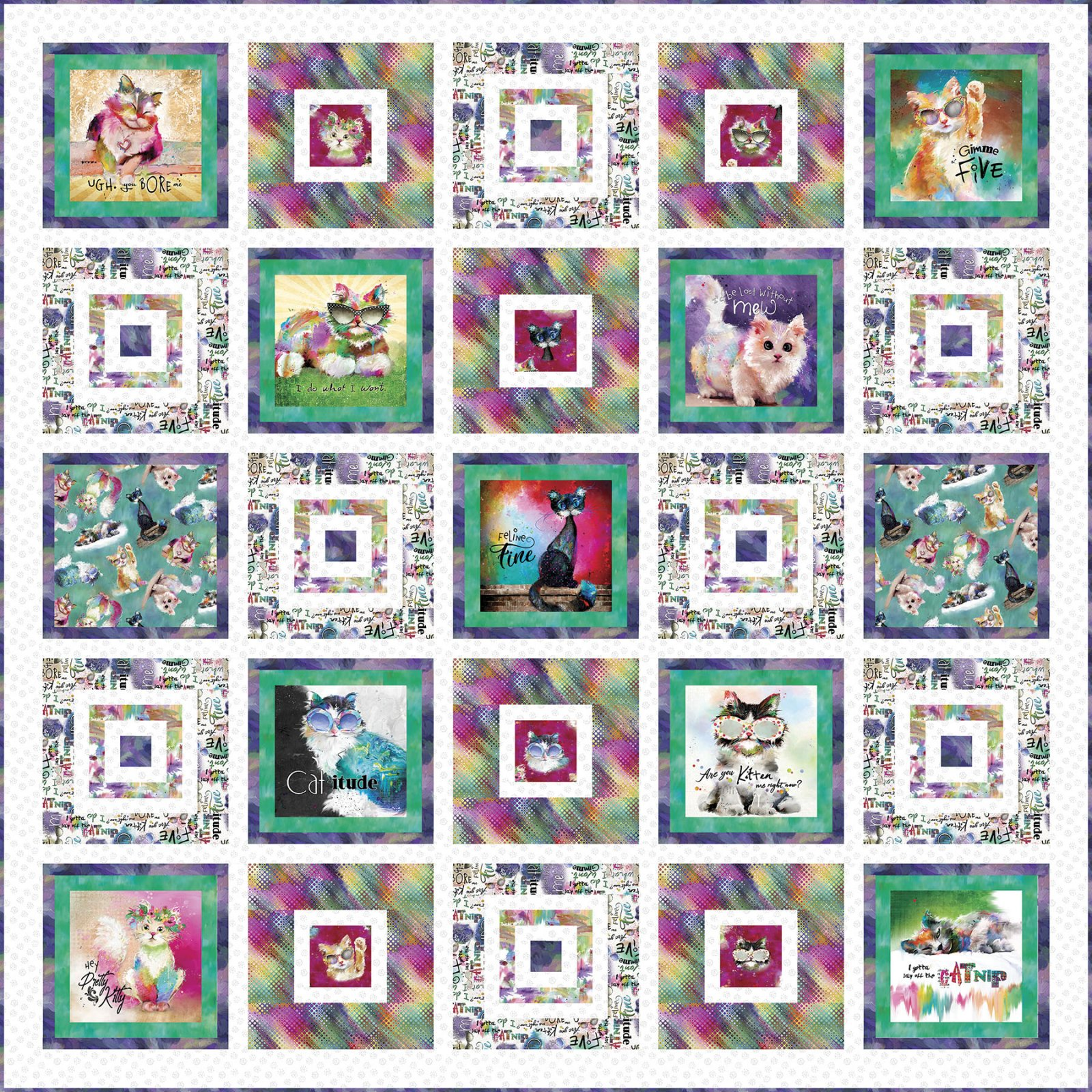 3 Wishes Fabric<br>Good Kitty Quilt