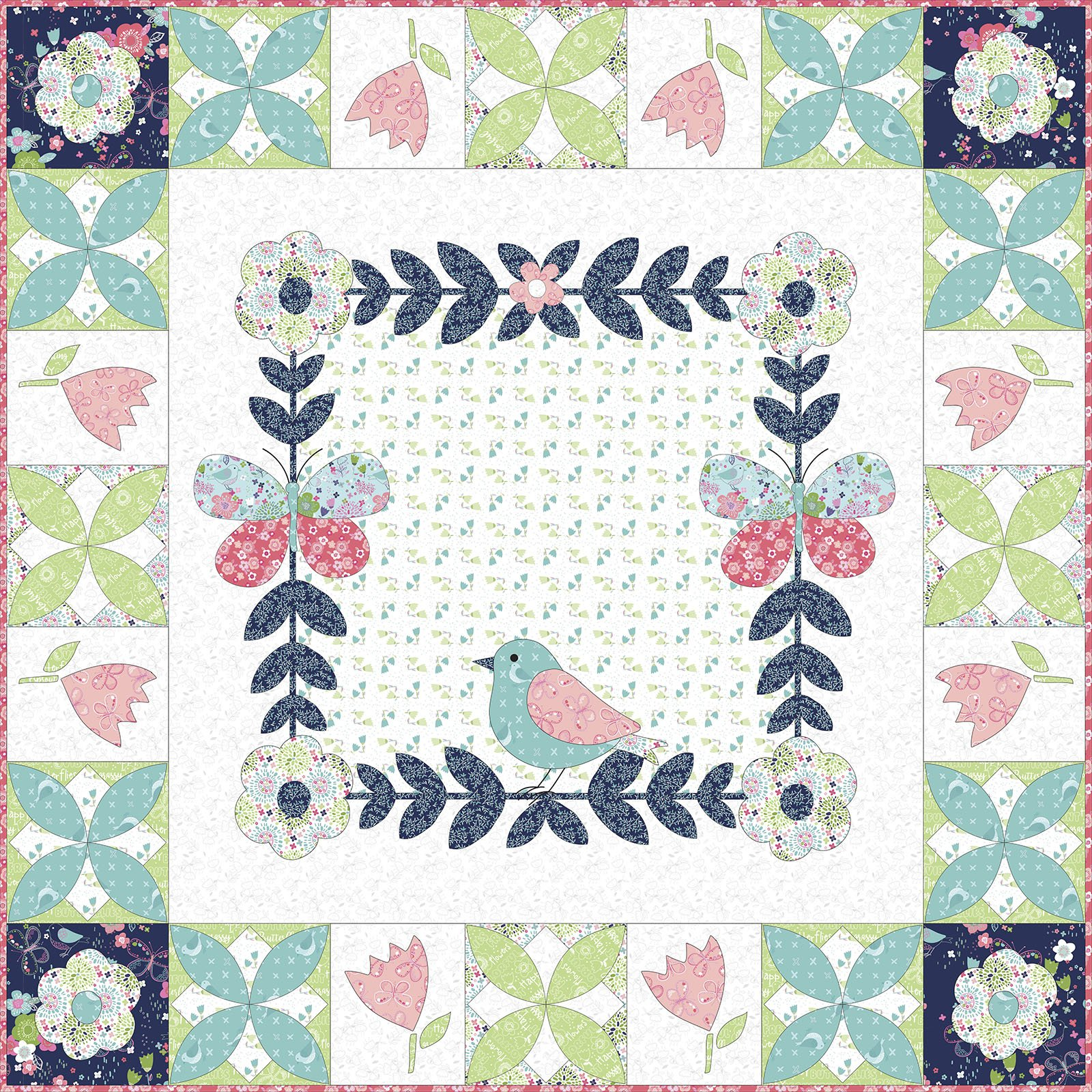 3 Wishes Fabric<br>Hello Spring Wall Hanging