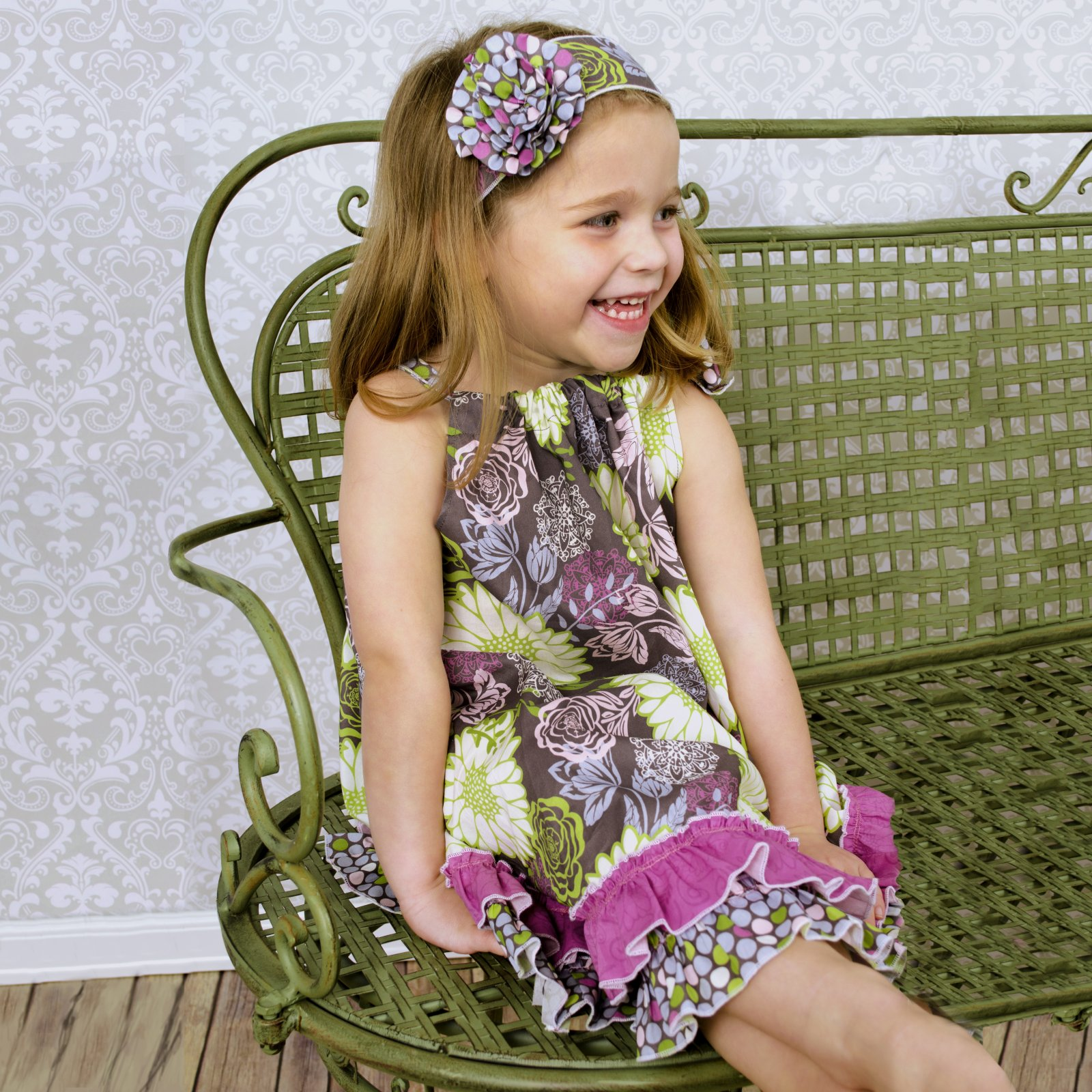 Little Dress Boutique - Haley Double Ruffle Dress & Headband