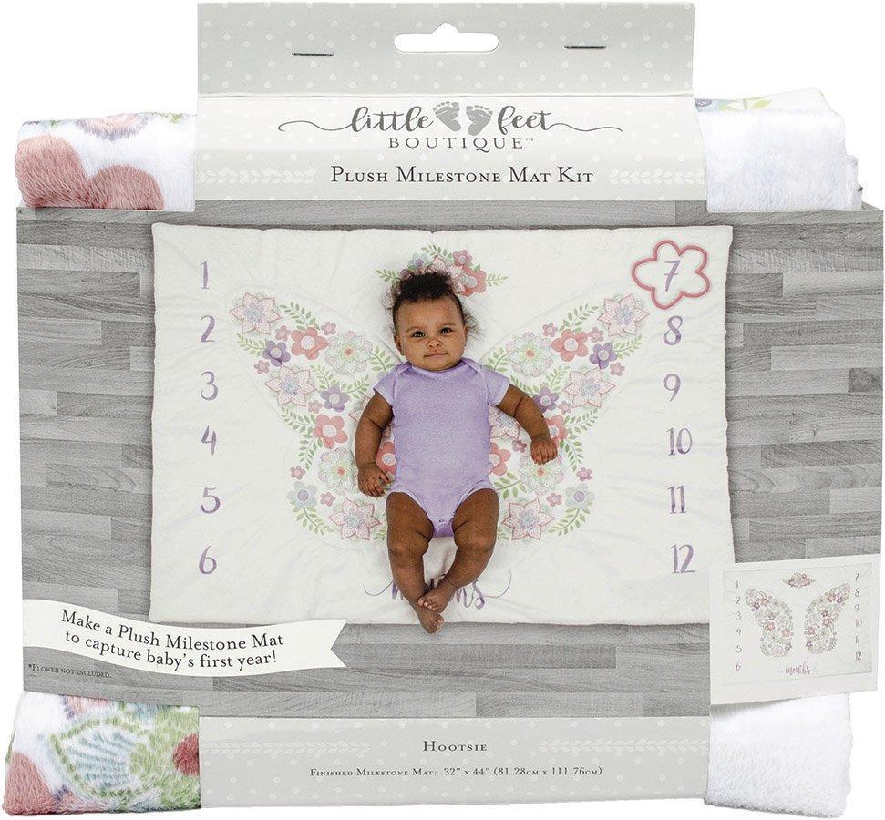 Little Feet Boutique<br>Plush Milestone Mat Kit  <br>LFB-MMAT-BG