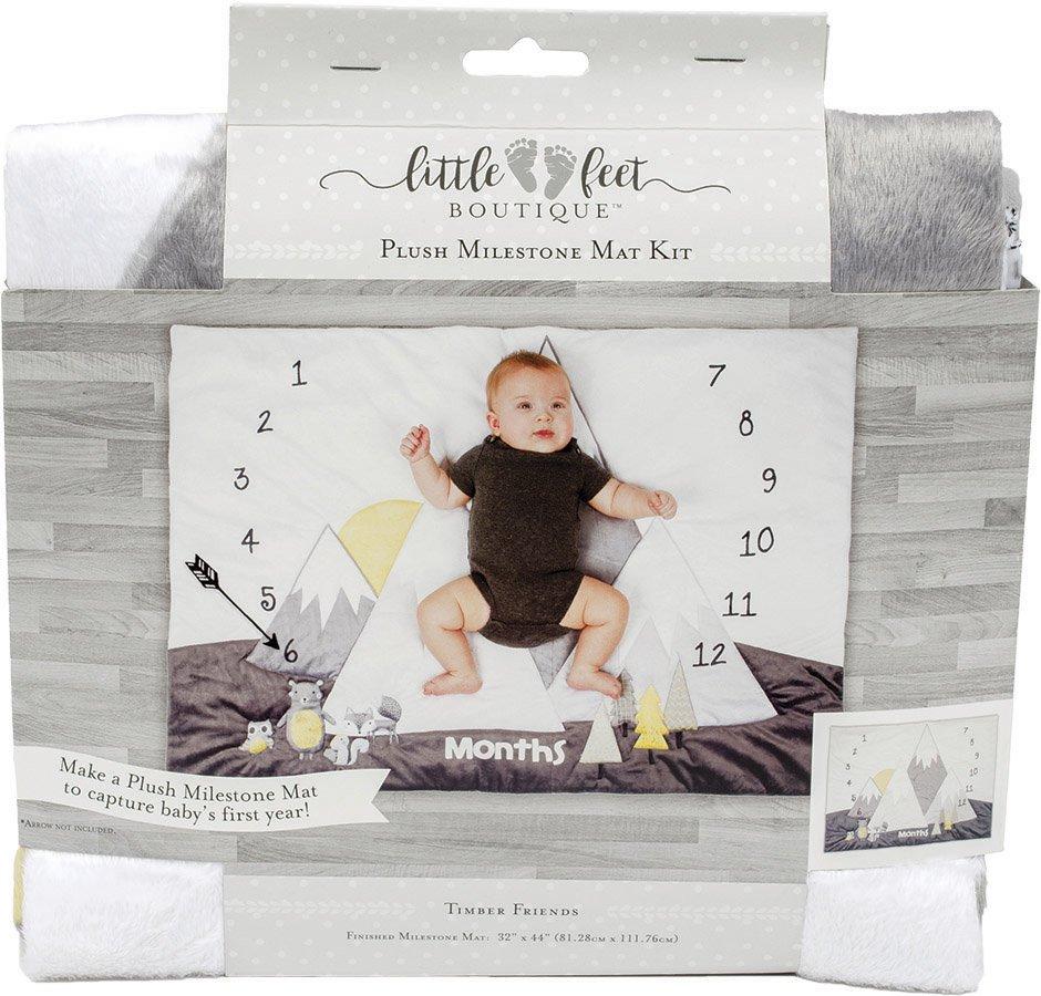 Little Feet Boutique<br>Plush Milestone Mat Kit  <br>LFB-MMAT-BN