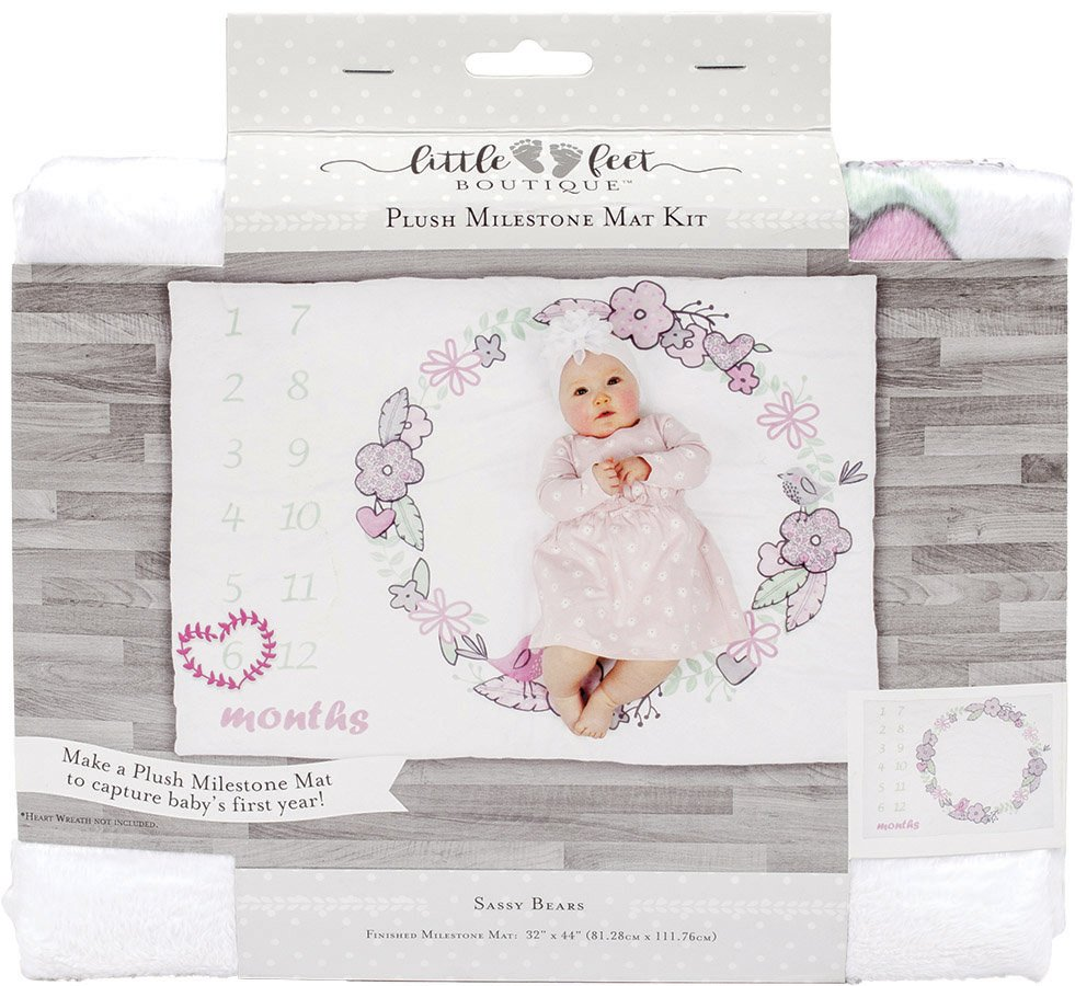 Little Feet Boutique<br>Plush Milestone Mat Kit  <br>LFB-MMAT-IG