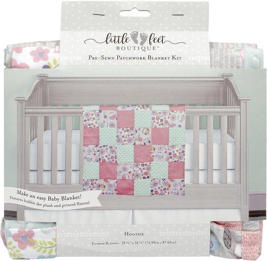 Little Feet Boutique<br>Pre-Sewn Patchwork Blanket Kit <br>LFB-PBKIT-BG