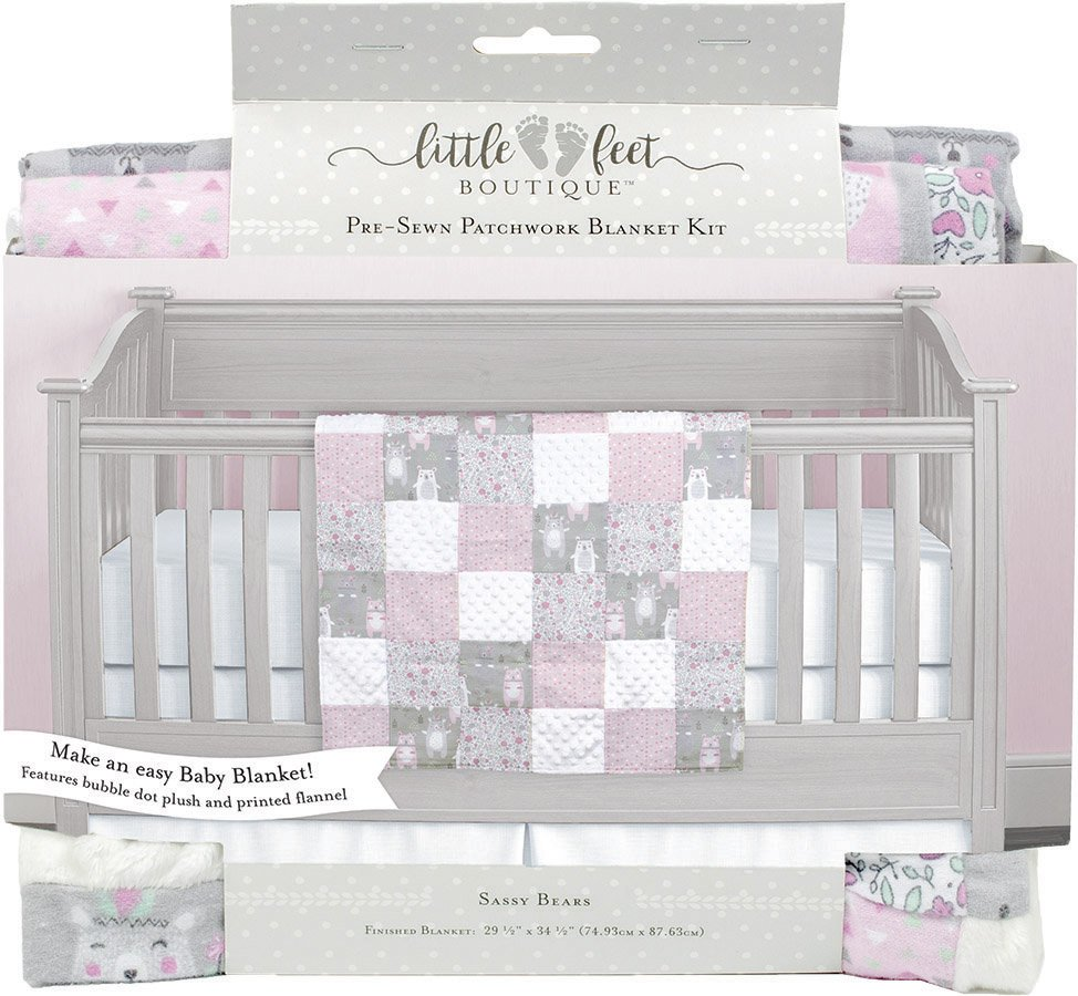 Little Feet Boutique<br>Pre-Sewn Patchwork Blanket Kit <br>LFB-PBKIT-IG