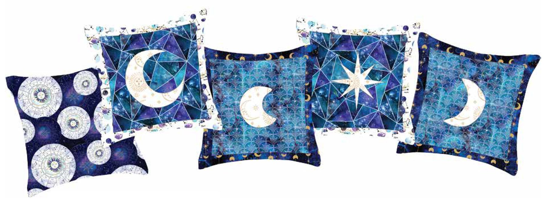 3 Wishes Fabric<br>Magical Galaxy Pillows