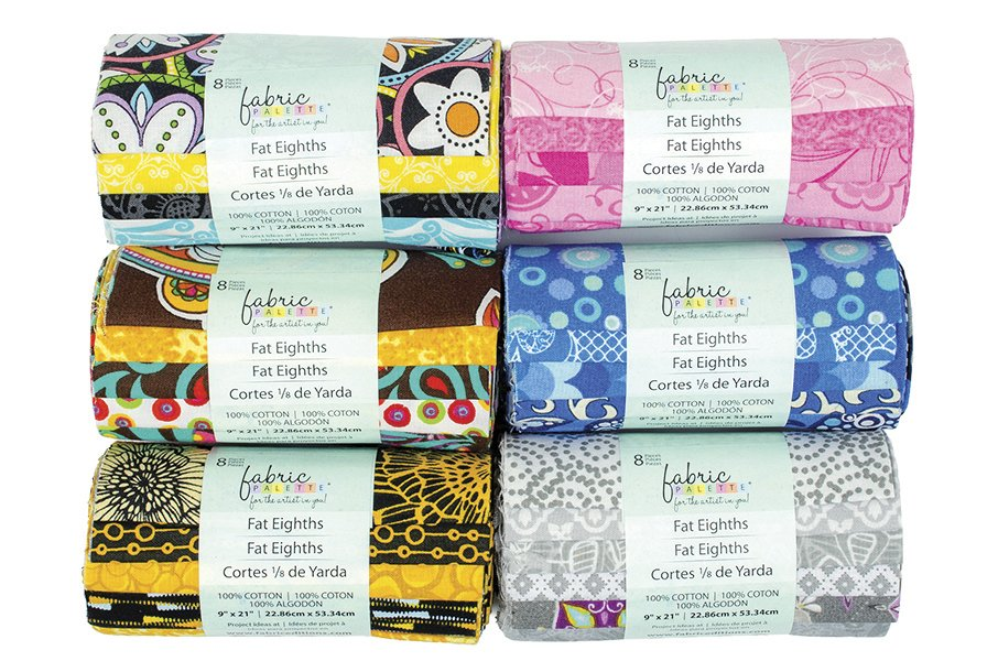 Fabric Palette 8pc Fat Eighths<br>9 x 21 8-Pack Assortments<br>MD-F8-ASSORTED