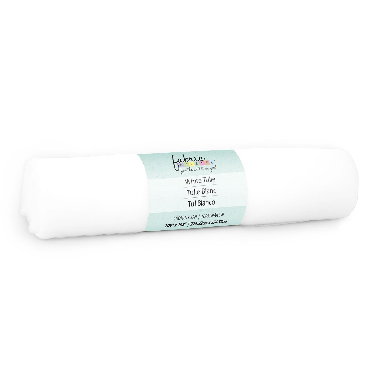 Fabric Palette Tulle<br>White 3yds<br>MD-G-3YDTULLE