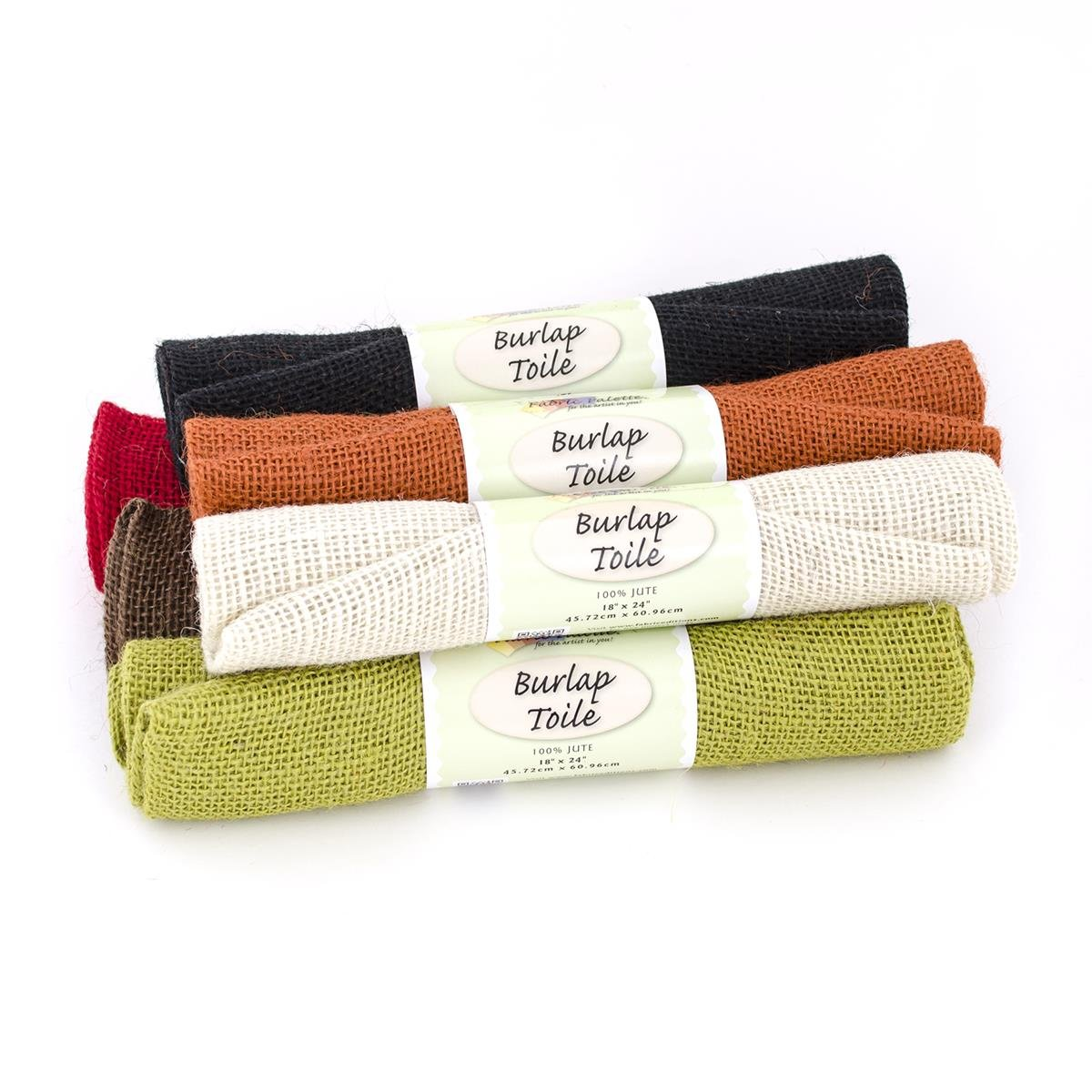 Fabric Palette Burlap Fat Quarters <br>Assorted Colors <br>MD-G-BURLAP-ASTM