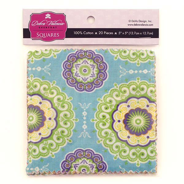 Fabric Palette Squares <br> Boho Girl by Debra Valencia <br>MD-G-CP-BOHO