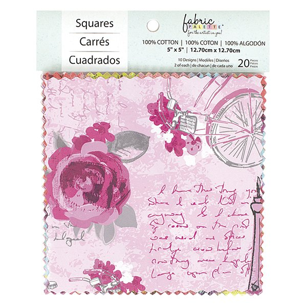 Fabric Palette 20pc Squares Pack<br>Summertime in Paris Collection<br>MD-G-CP-VIN