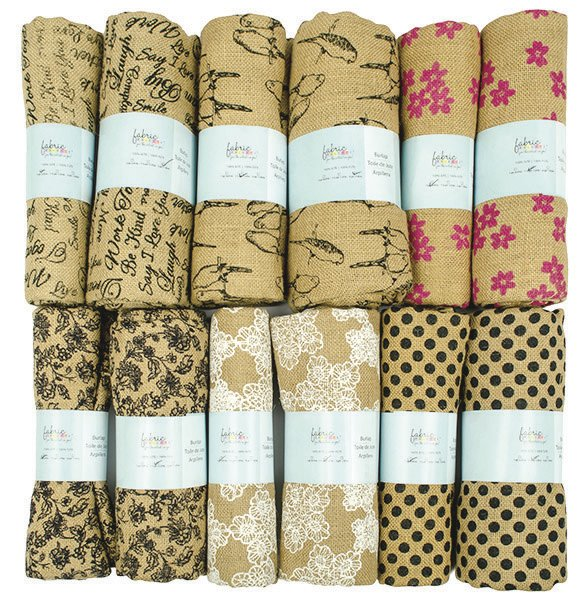 Fabric Palette Flat Fats<br>Burlap Assortment<br>MD-G-FLAT-7