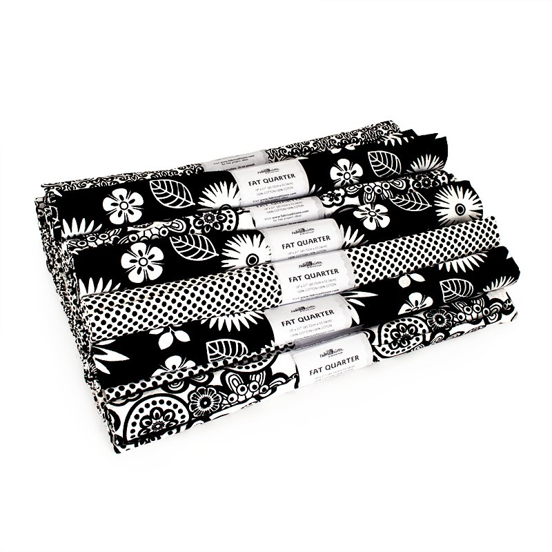 Fabric Palette Fat Quarter Assortment<br> Black/White<br>MD-G-FQ-BLK-WHT