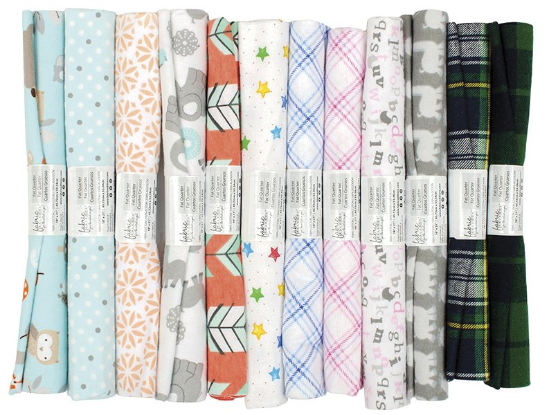 Fabric Palette Rolled Fat Quarters<br>Flannel Assortment <br>MD-G-FQ-FLANNEL