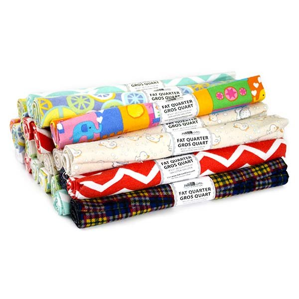 Fabric Palette Rolled Fat Quarter <br>Flannel Assortment <br>MD-G-FQ-FLANNEL
