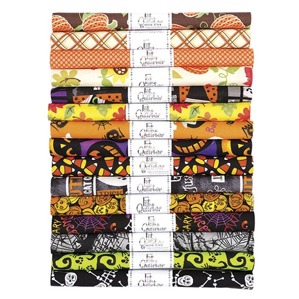 Fabric Palette Rolled Fat Quarter <br>Seasonal Halloween Assortment <br>MD-G-FQ-PR-HAL