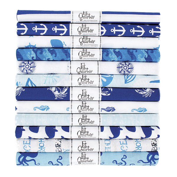 Fabric Palette Rolled Fat Quarter <br>Nautical Assortment <br>MD-G-FQ-PR-NAUT