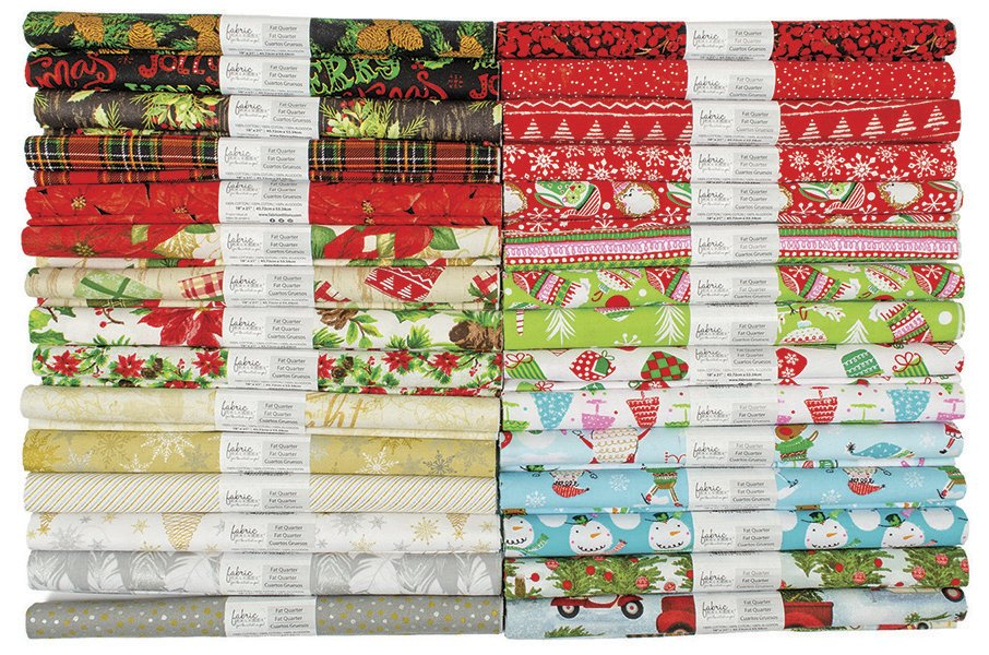 Fabric Palette Rolled Fat Quarters<br>Seasonal Christmas Assortment <br>MD-G-FQ-SEASON