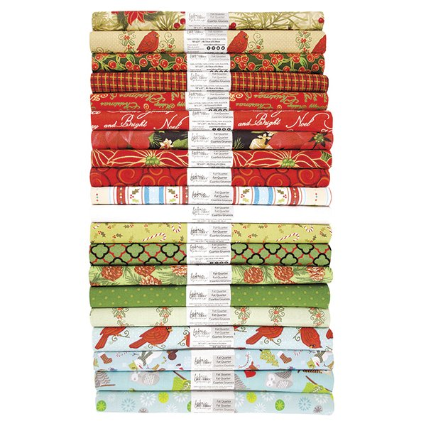 Fabric Palette Rolled Fat Quarter <br>Seasonal Christmas Assortment <br>MD-G-FQ-SEASON