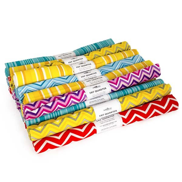 Fabric Palette Fat Quarter Assortment<br>Chevron & Stripe<br>MD-G-FQ-TREND5