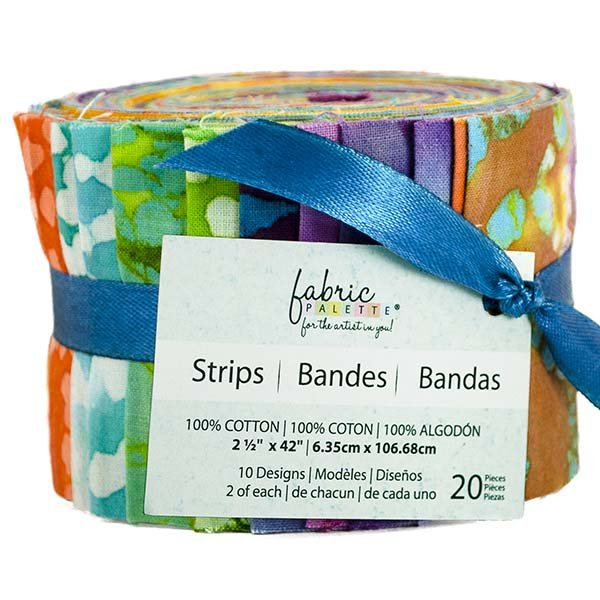 Fabric Palette 20pc Strips Roll<br>Long Road Batik Collection<br>MD-G-JL-LRBAT