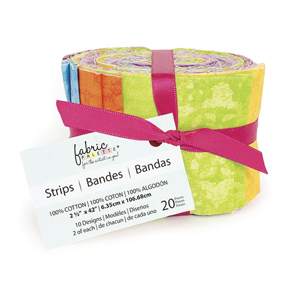 Fabric Palette 20pc Strips Roll<br>Top Texture Collection<br>MD-G-JL-TTEXTT