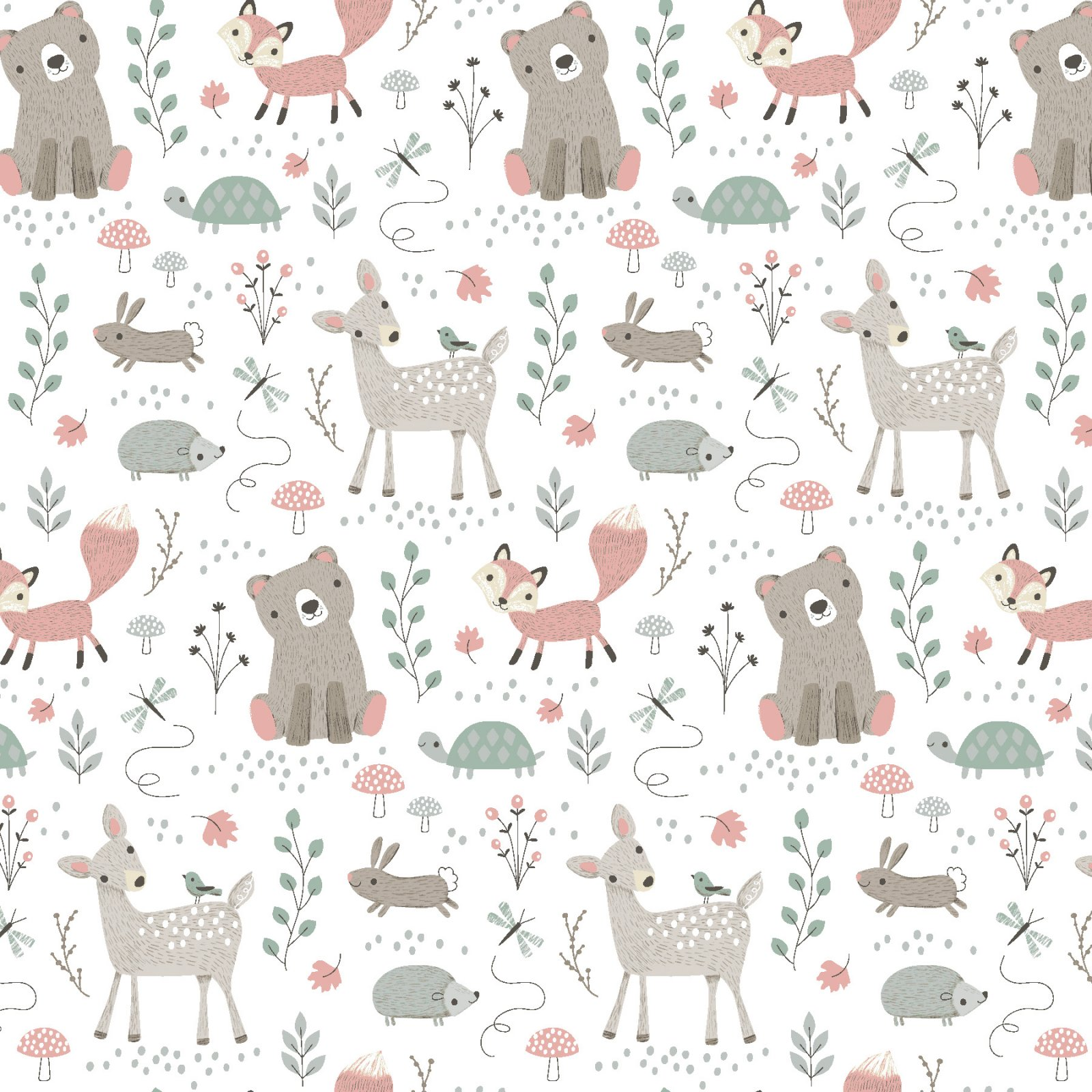 Fabric Palette Fat Quarter <br>White Novelty - Design may vary <br>MD-G-PC333