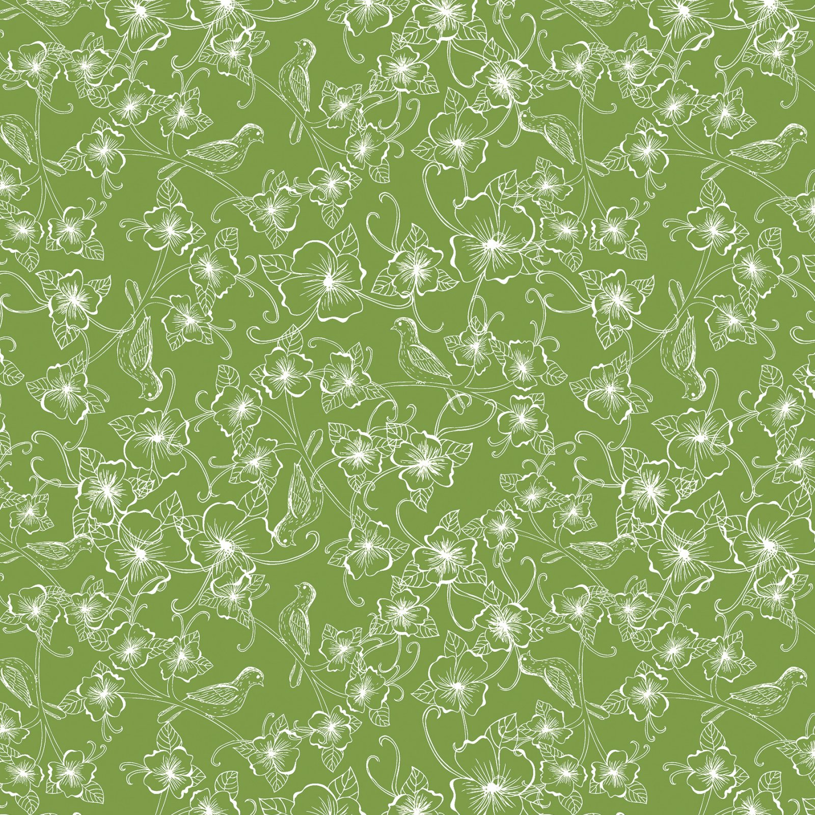Fabric Palette Fat Quarter <br>Green - Design may vary <br>MD-G-PC352
