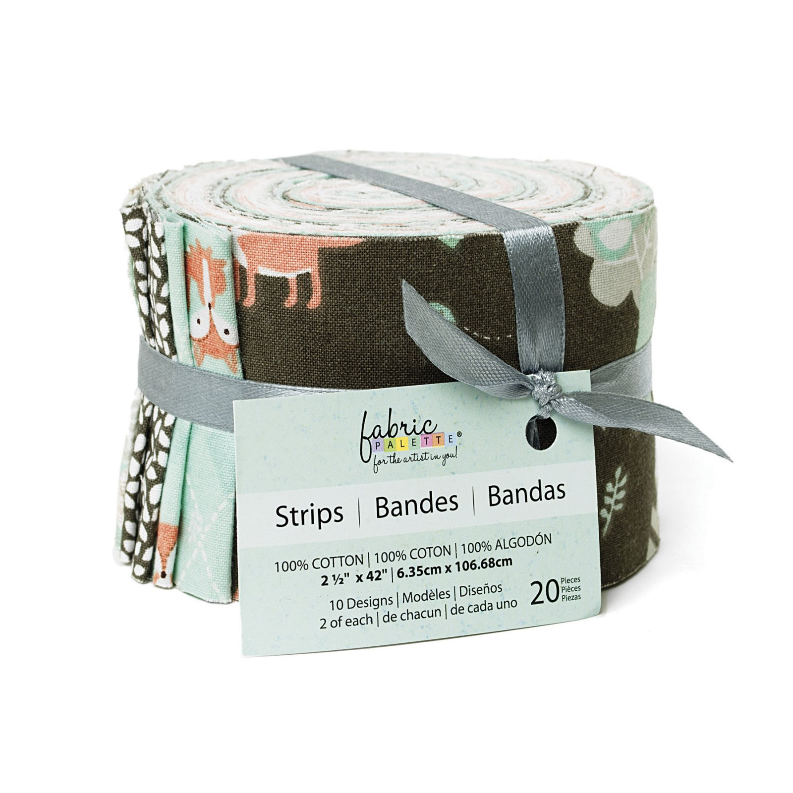 Fabric Palette 20pc Strips Roll<br>Little Forest Collection<br>MD-G-STP-THM-3