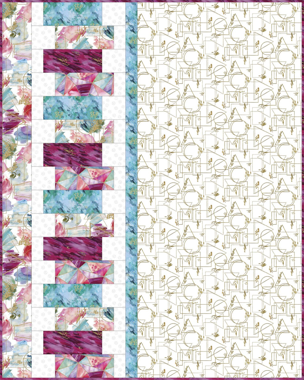 3 Wishes Fabric<br>Gold Fusion Quilt
