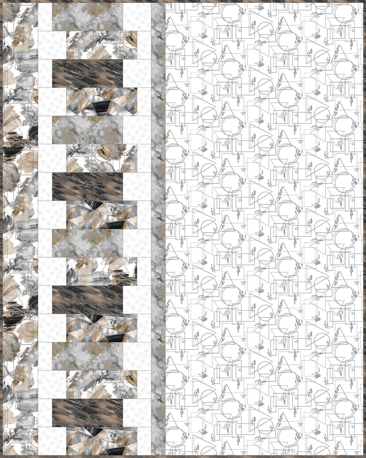 3 Wishes Fabric<br>Silver Fusion Quilt