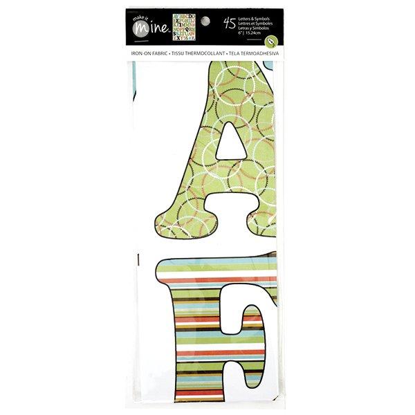 Make It Mine Iron On Fabric Letters Symbols Modern Uppercase