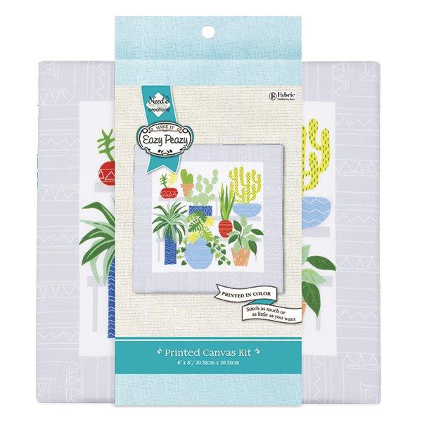 Eazy Peazy<br>Embroidery Canvas Kit<br>NC-EP-TRND-8